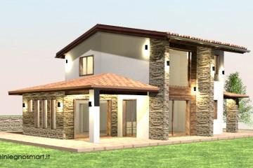 Modello Casa in Legno Smart 165 di Case in Legno Smart