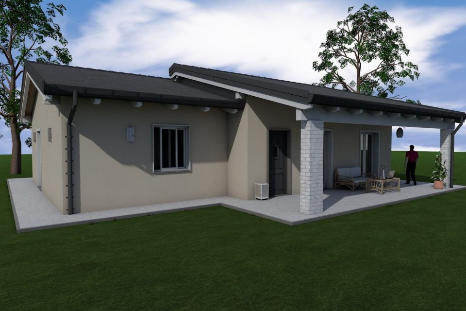 Casa in Legno in stile Classico: Villa WP121