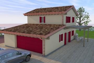 Modello Casa in Legno Villa TK01 di Wood planner