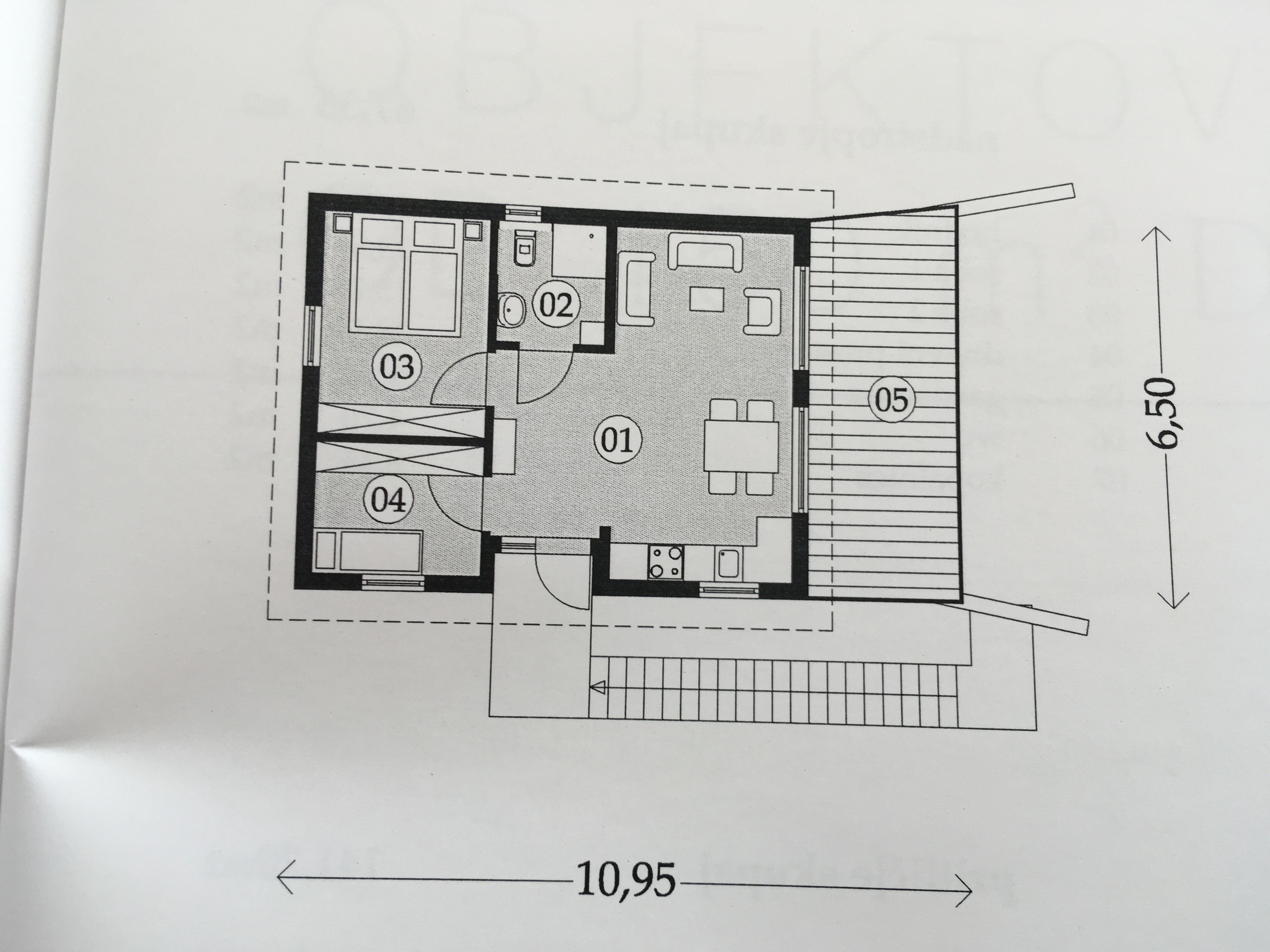 Planimetria della costruzione Casa in Legno modello Casa solare 2  di RIKO-HISE srl - Arch. Daniele Bonzi
