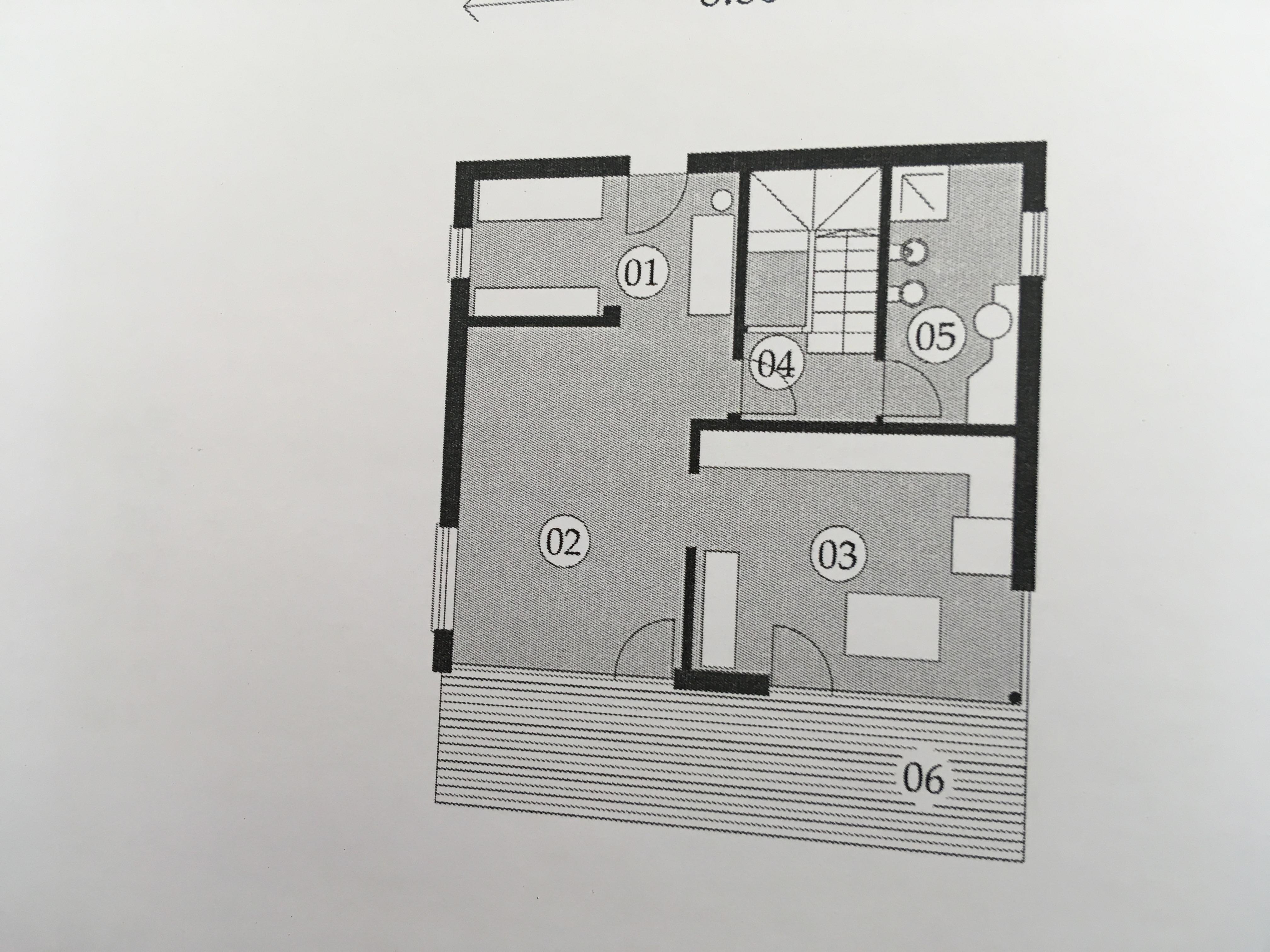 Planimetria della costruzione Casa in Legno modello Casa con facciate in Pietra  a due piani  di RIKO-HISE srl - Arch. Daniele Bonzi
