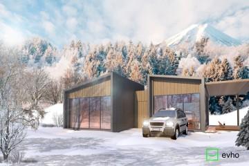 Modello Casa in Legno VILLA ASPEN di Evho Ptd Ltd: