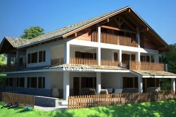 Casa Semindipendente in Legno
