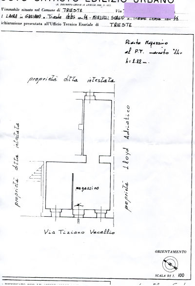 Magazzino TRIESTE COD 14/15