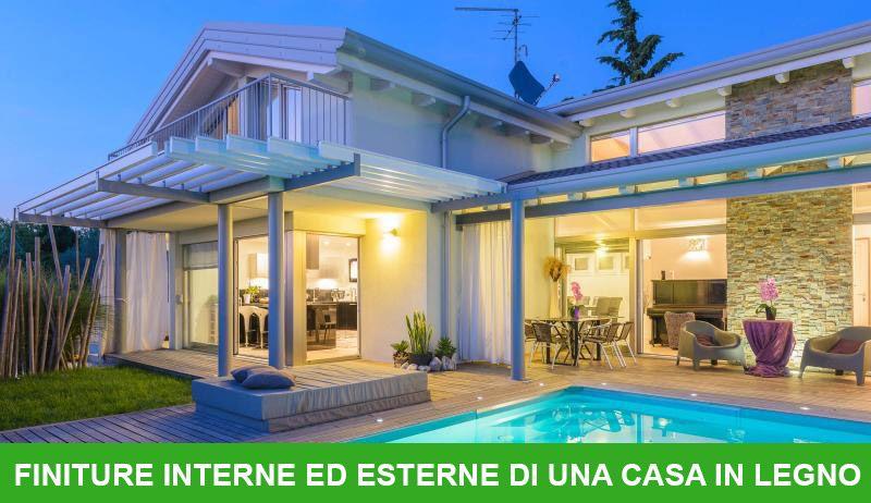 Finiture interne ed esterne di una casa in legno - Case moderne in legno ...