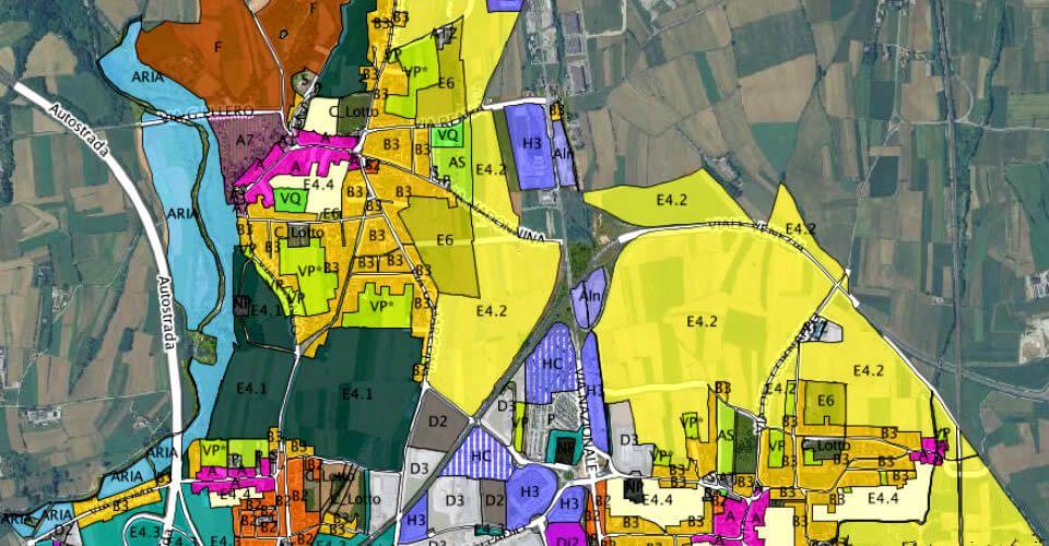 zone territoriali e indice di edificabilità