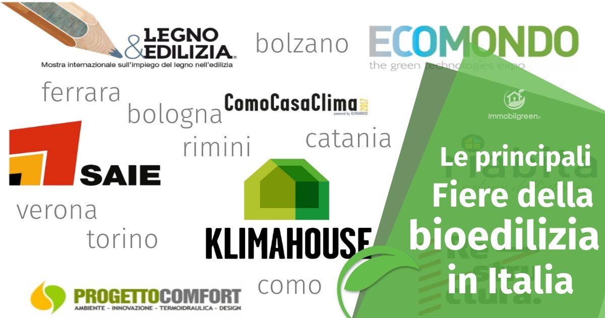 bioedilizia i principali appuntamenti fieristici in italia
