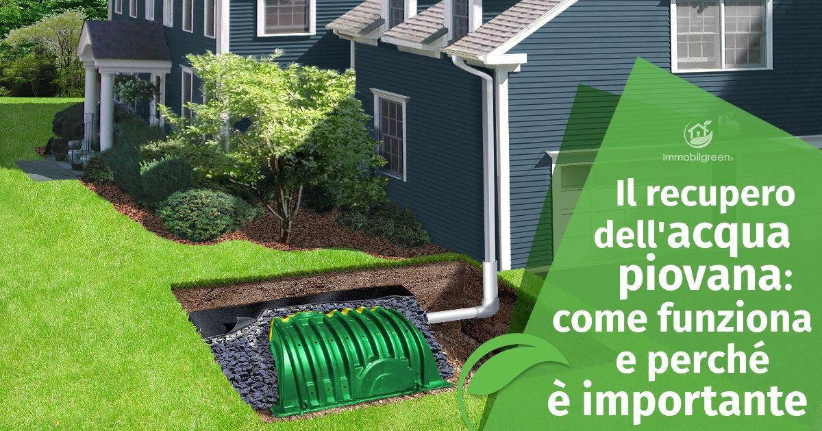 Il recupero dell 39 acqua piovana come funziona e perch for Come funziona un mutuo quando costruisci una casa