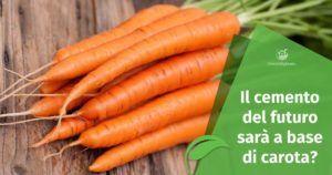 Il cemento del futuro sarà a base di… carota?