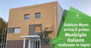 Il primo Municipio italiano realizzato in legno: succede a Gabicce