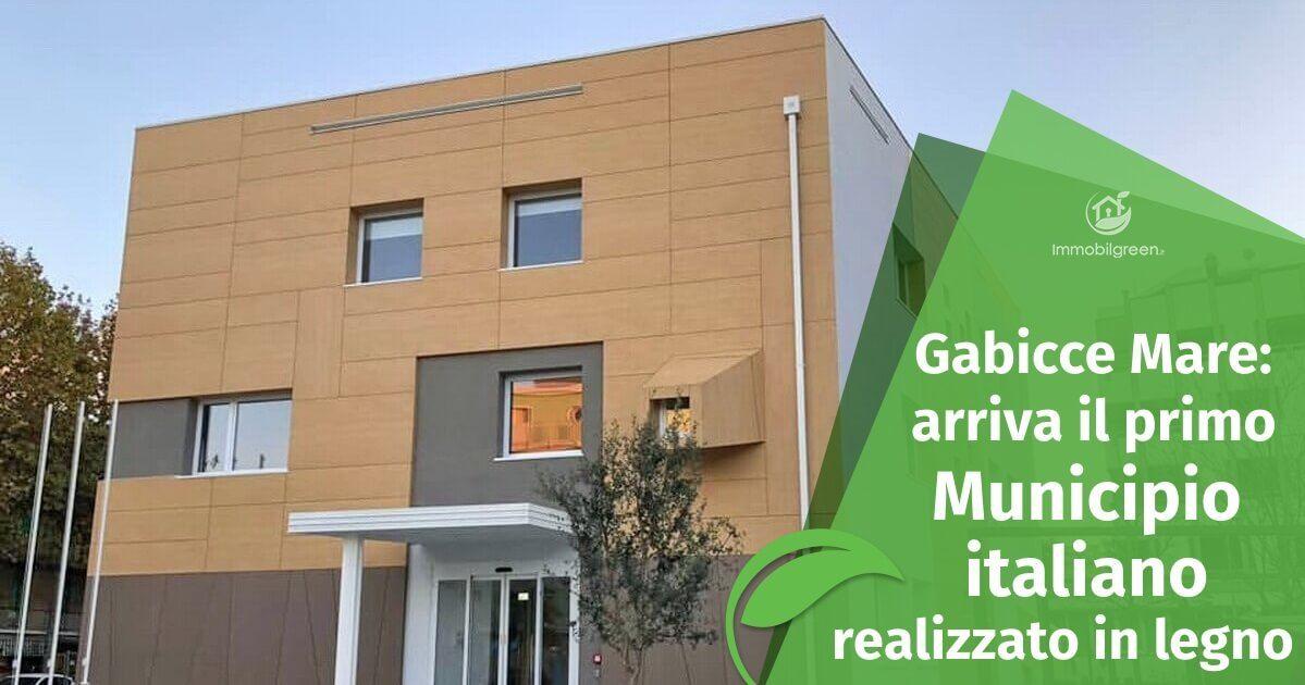 Il primo Municipio italiano realizzato in legno a Gabicce