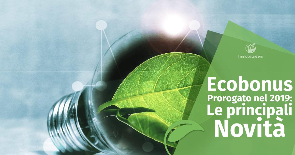 ecobonus 2019 novità