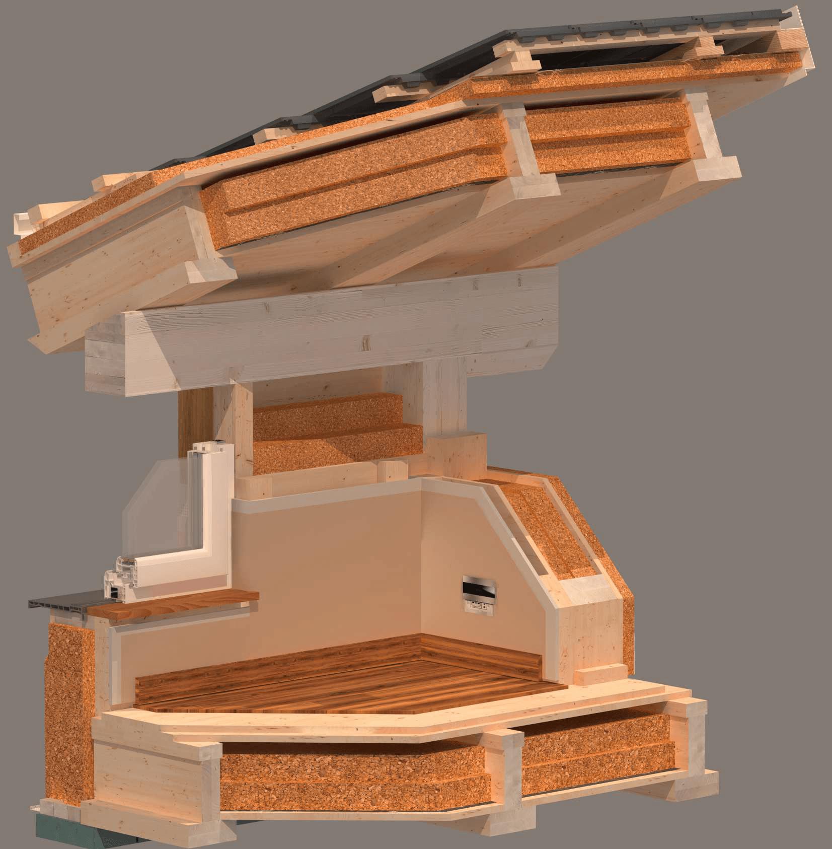 Solaio In Legno Lamellare Autoportante metodo costruttivo x-frame per case prefabbricate in legno