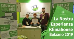 La Nostra Esperienza a Klimahouse 2019