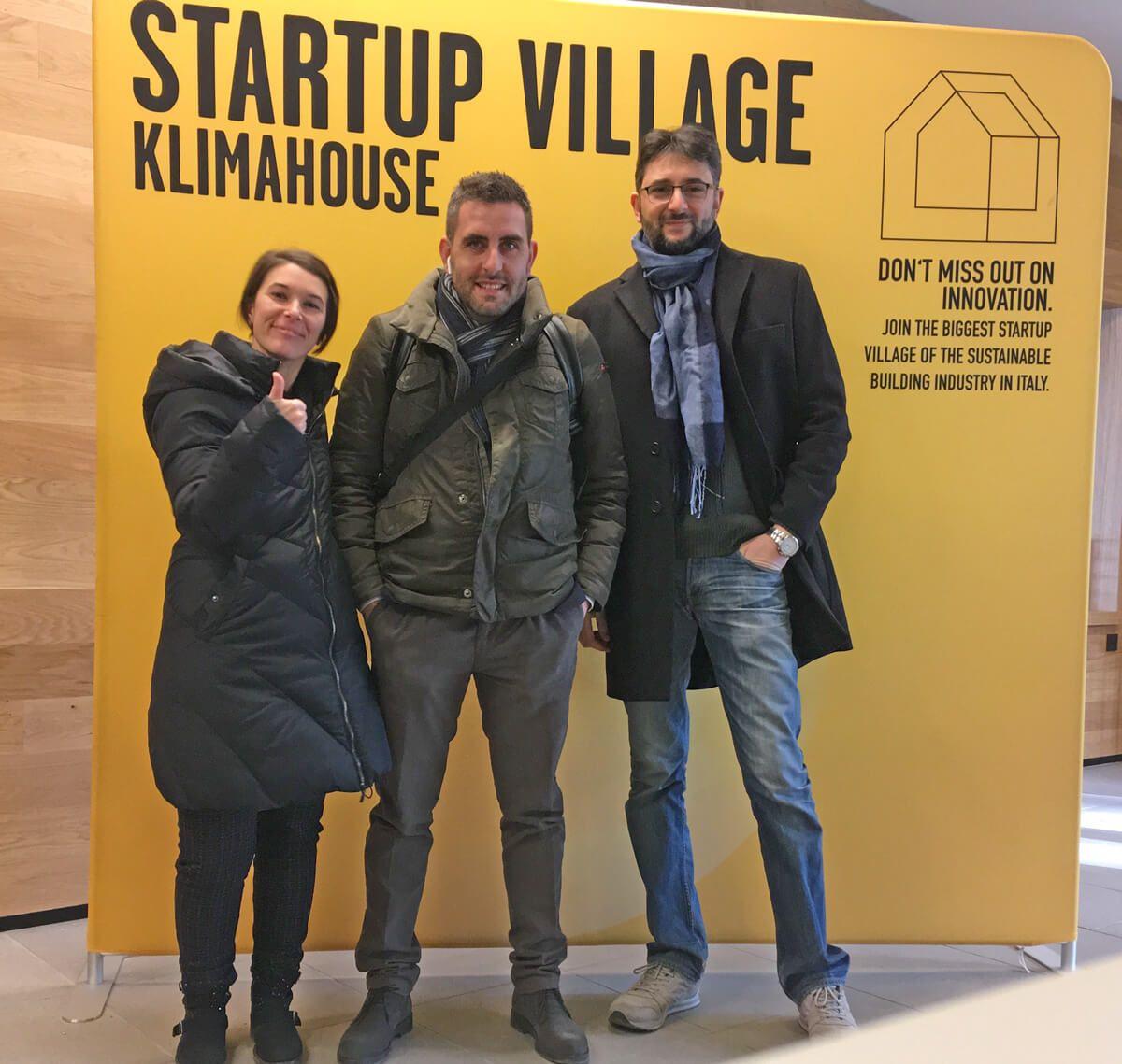 Lo staff di Immobilgreen.it allo Startup Village Klimahouse