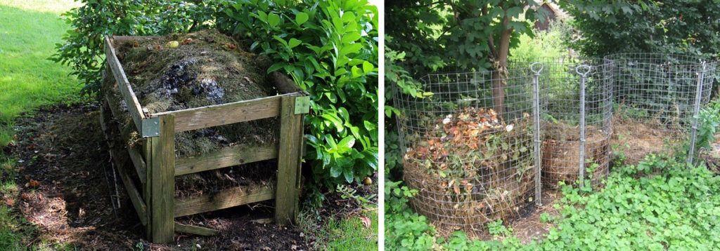 compost cumulo bancale o rete
