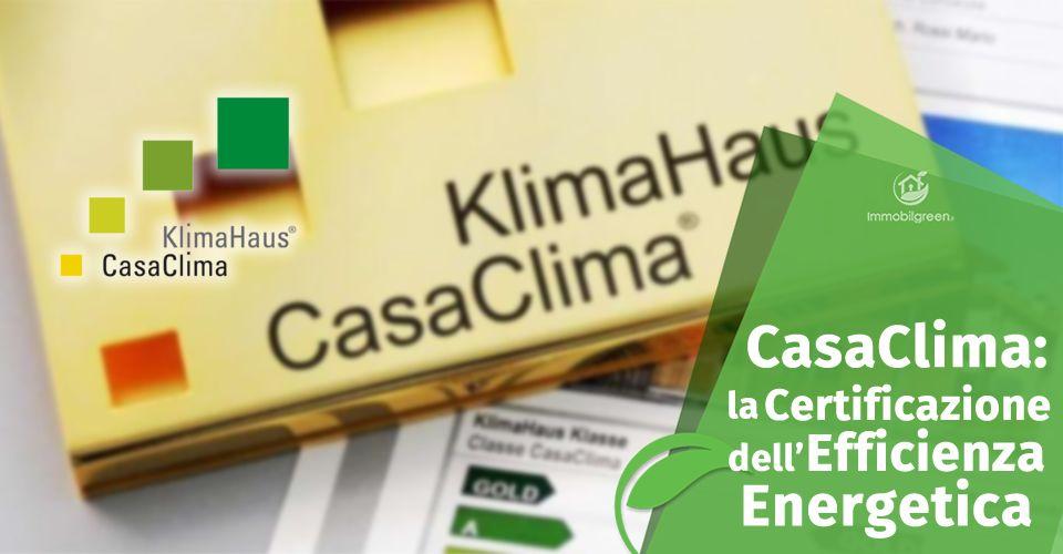 La certificazione CasaClima