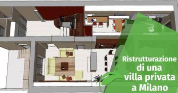 Ristrutturazione di una villa privata a Milano